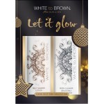White to Brown Let It Glow Tan Gift Set DARK